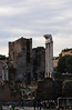 The Roman Forum is the central area around which the ancient Roman civilization developed and is located between the Palatine hill and the Capitoline hill of the city of Rome