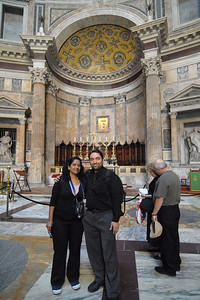 Suchit and Anu in Rome, Italy.