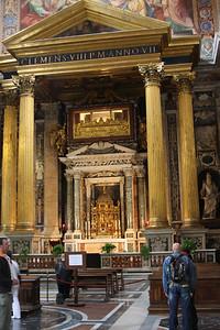 Blessed Sacrament altar in south transept of St. John Lateran