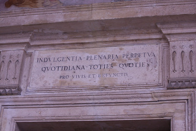 Detail on St. John Lateran Holy Staircase