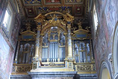 Organ in north transept of St. John Lateran