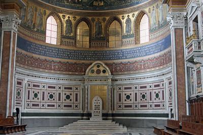 Apse of St John Lateran - bishop's cathedra