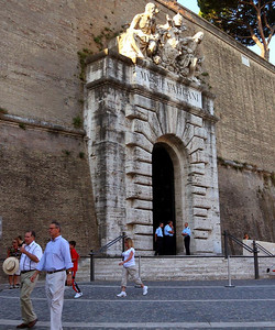 Original entrance to the Vatican-no longer used.