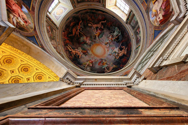 Oval ceiling frescoe in the Vatican