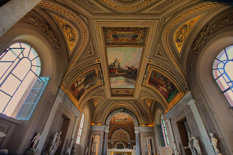 Vatican ceiling designs are beyond words.