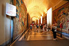 Hall of tapestries-Vatican. As was often the case, I was lagging behind my tour group, shown here.