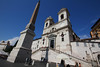 Trinita dei Monte- a church at the top of the famed Spanish Steps.