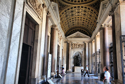 North entrance to Santa Maria Maggiore church