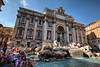 Trevi Fountain- the most crowded place on the entire tour other than St. Peter's Basilica and the Colosseum. It was finished in 1762 and extensively cleaned in 1998. Legend tells of good fortune to be had by tossing a coin over the left shoulder with the right hand into the fountain. 3000 Euros a day make it into the water which is currently collected to build a supermaket for the needy.