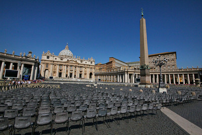 Front of Vatican from main Plaza