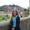Foro di Cesare in background