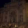 Fontana di Trevi lit up at night