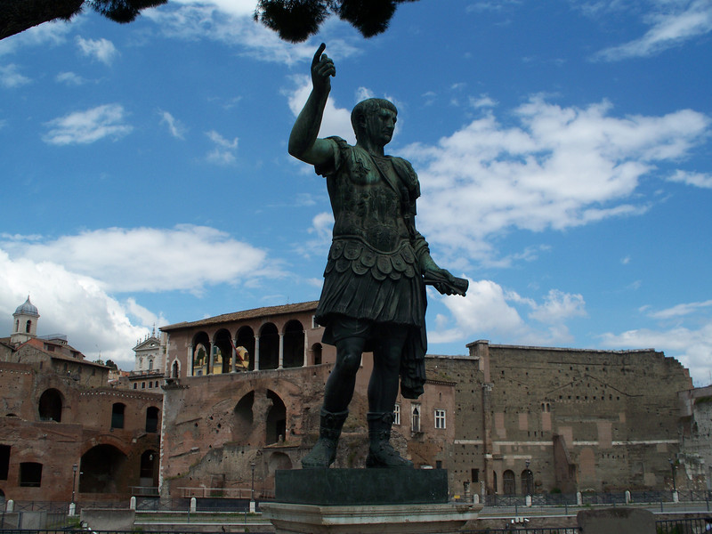 Statue 3 of 3 in front of Foro Traiano