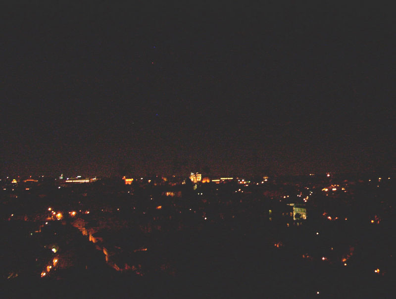 Rome at night, from Gianicolo