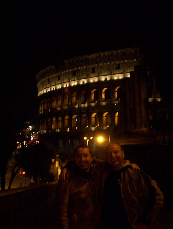 Il Coloseo with Luca and Silvano