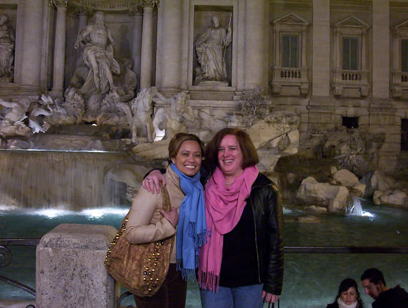 Anna and I at La Fontana Trevi
