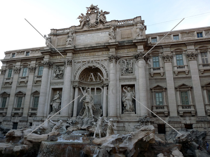 The Trevi fountain in Rome, Italy.
