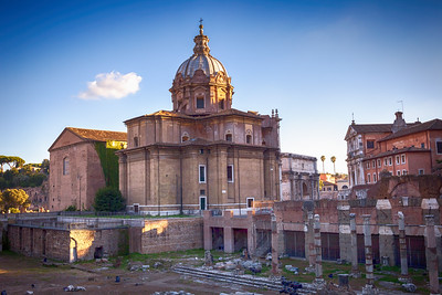 Church and Forum Romanum