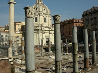 Emperor Trajan's Square and Basilica Ulpia  - Rome, Italy
