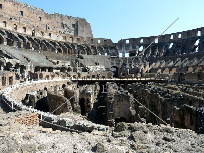 The Roman Coliseum ruins in Rome, Italy.