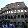 The Roman Coliseum in Rome, Italy.