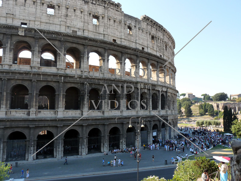 The Roman Coliseum in Rome, Italy.