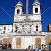Spanish Steps and church of Trinita dei Monti in Rome, Italy.