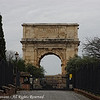 The Arch of Titus. This is just up a small hill by the Colosseum. If you turn 180 degrees from this angle, you'd see it.