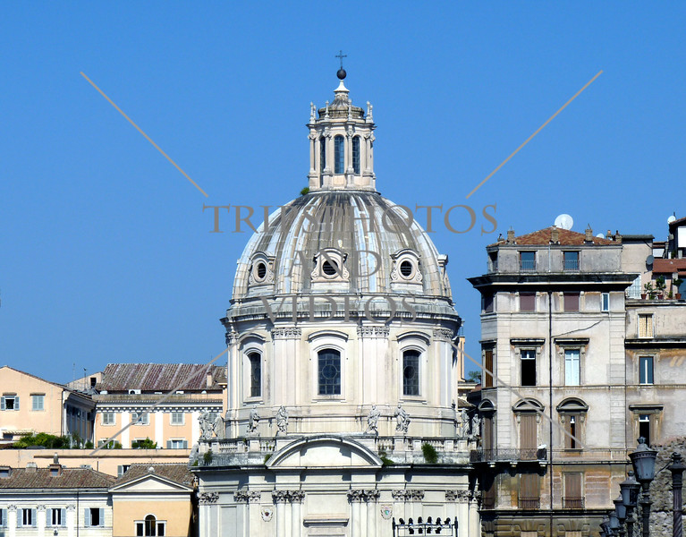 A Church Dome in Rome, Italy.
