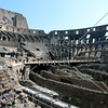 The Roman Coliseum ruins in Rome, Italy.