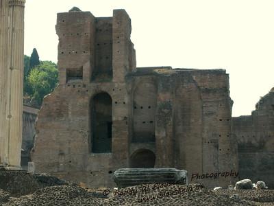 Ruins of Santa Maria Antiqua, the oldest church Romano Forum