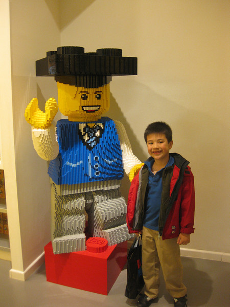 In addition to the historical stuff, we had to visit the Lego store, which is three stories high!