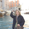 Bebe - traditional coin toss at the Trevi Fountain