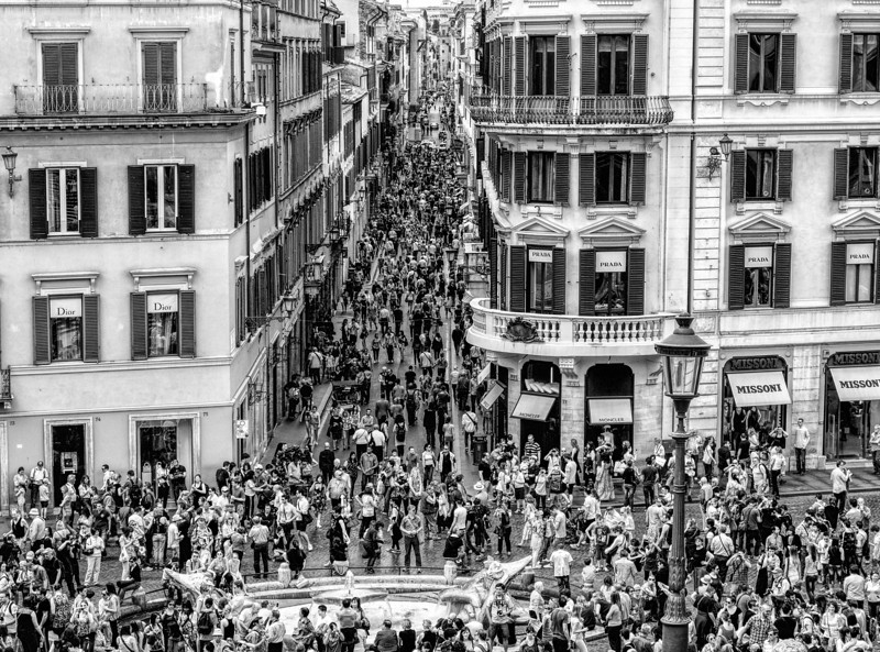 From the Spanish Steps - Rome