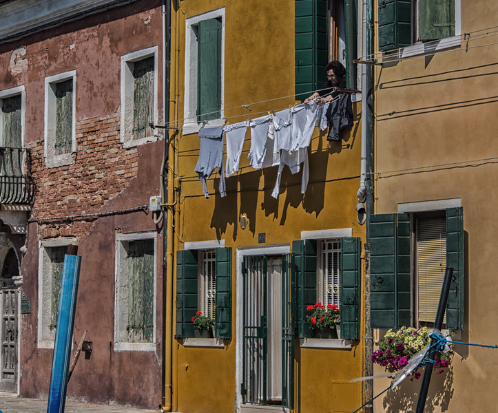 Hanging the Clothes in Burano