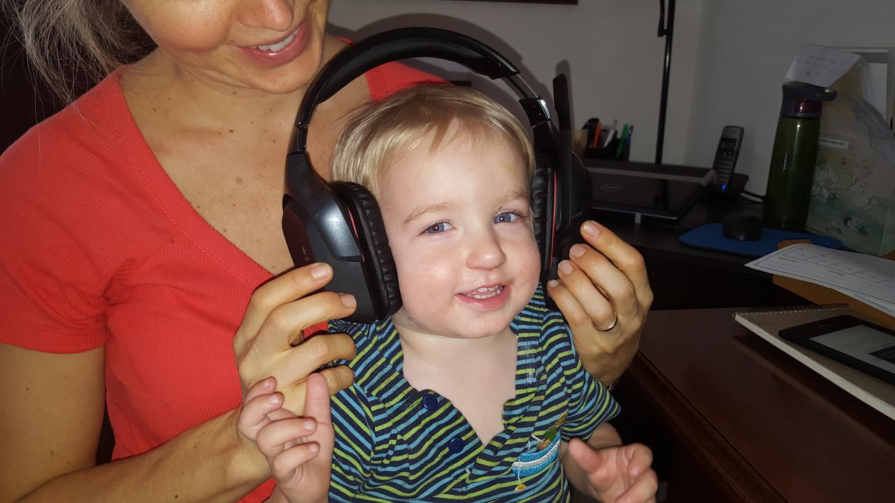 Listening to tunes