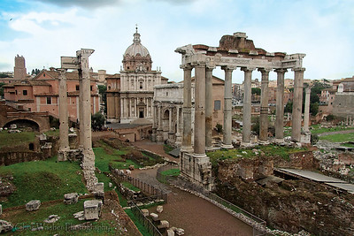 Roman Forum & Church of Saints Luke and Martina