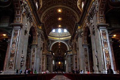 Inside Saint Peter's Basilica