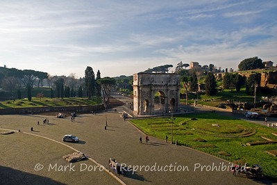 Arch of Constantine from the Colosseum, Rome, Italy