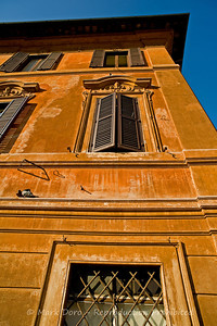 Building detail, adjacent to the Spanish Steps, Rome, Italy