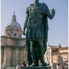 Statue of Julius Caesar in front of the Forum.