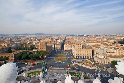 View of Rome from  Il Vittoriano, Rome, Italy