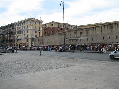 The line for the Sistine Chapel