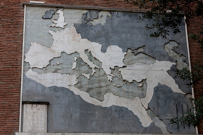 At the height of the Roman empire they controlled this much area of Europe, Africa and Asia. Incredible.