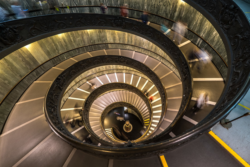Vatican Stairs down