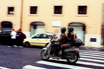 A scooter in Italy is as popular as the ipod in the US.  Everyone's got one.