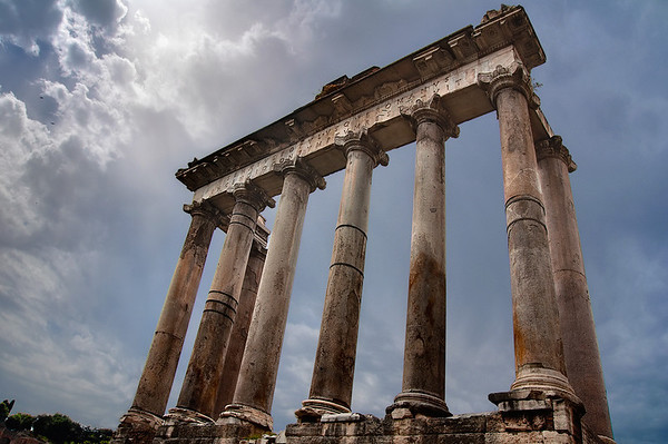 You can say a lot about the Romans, but they certainly knew how to make scenic ruins.