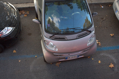 This appeard to be legal parking for a Smart Car.