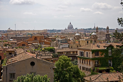 St. Peter's Basilica in the distance take from Pincian Hill