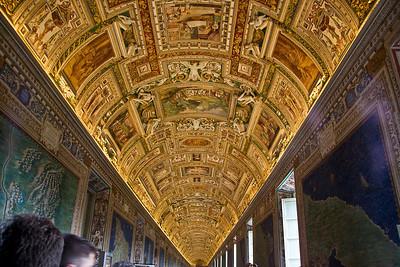 Ceiling in one of the hallways in Vatican Museum